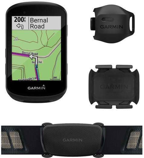 Garmin Edge 530 Bike Computer Bundle (Includes Dual Heart Rate Monitor,  Speed and Cadence Sensors)