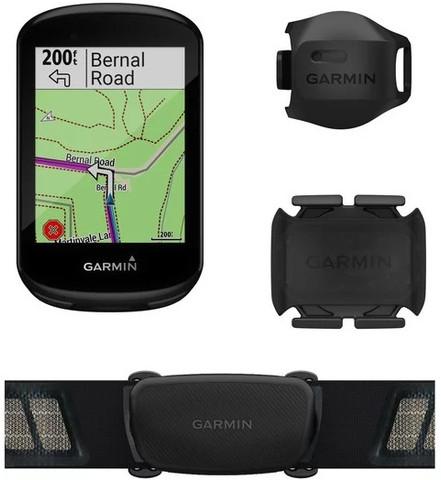 Garmin Edge 830 Bike Computer Bundle (Includes Dual Heart Rate Monitor, Speed and Cadence Sensors)