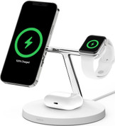 Belkin Boost Charge Pro 3-in-1 Wireless Charger with MagSafe (White)