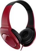 Pioneer Fully Enclosed Dynamic Headphone with Powerful Bass (SE-MJ721-R Red)