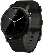 Moto 360 (2nd Gen) Small Black with Black Leather