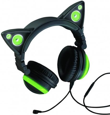 Brookstone Cat Ear Headphones (Green)