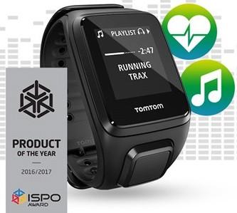 TomTom Spark Cardio + Music Headphone Bundle (Black Large)