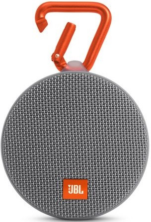 JBL Clip 2 Waterproof Portable Bluetooth Speaker (Grey)