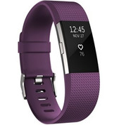 Fitbit Charge 2 Heart Rate Fitness Band (Plum Large)