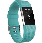 Fitbit Charge 2 Heart Rate Fitness Band (Teal Large)