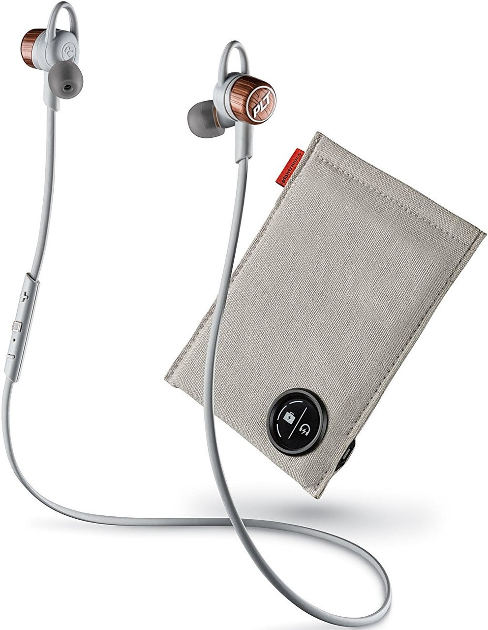 best service ba64f 50d32 Plantronics BackBeat GO 3 Wireless Headphones with Charge Case (Copper Grey)