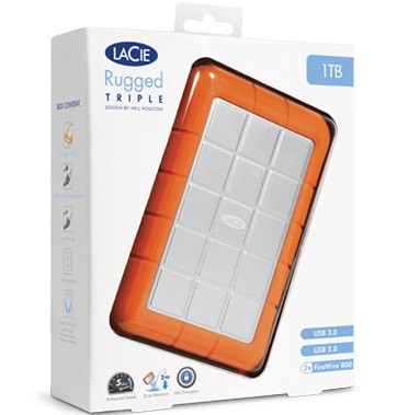 LaCie 1TB Rugged Triple Mobile Storage (FireWire 800 & USB 3.0)