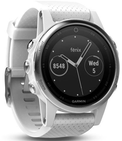 Garmin Fenix 5S White with Carrara White Band (42mm Diameter )