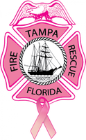 Tampa Fire Rescue Breast Cancer Awarness Duty Shirt
