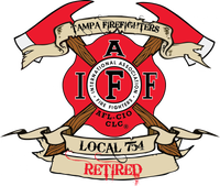 Tampa Firefighters Retired Decal