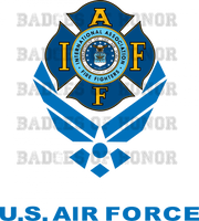 IAFF USAF Color Decal