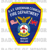 RAF Greenham Common Fire Protection Unoffical Shirt