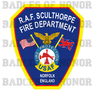 RAF Sculthorpe Fire Protection Unoffical Shirt