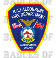 RAF Alconbury Fire Protection Unoffical Shirt