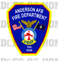 Anderson Air Force Base Fire Department Decal