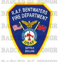 RAF Bentwaters Fire Department Decal