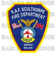 RAF SculthorpeFire Department Decal