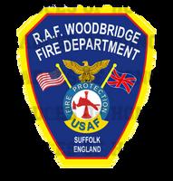 RAF Woodbridge Fire Department Decal