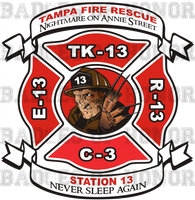 Tampa Fire Rescue Station 13 Decal