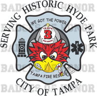 Tampa Fire Rescue Station 3 decal