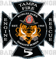 Tampa Fire Rescue Station 5 Decal 4""