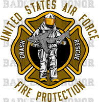 USAF Crash Firefighter Decal