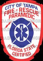 Tampa Fire Department Retro Paramedic Decal