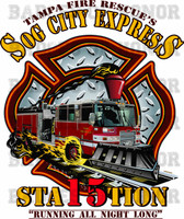 Tampa Fire Rescue Station 15 Sog City Express Shirt