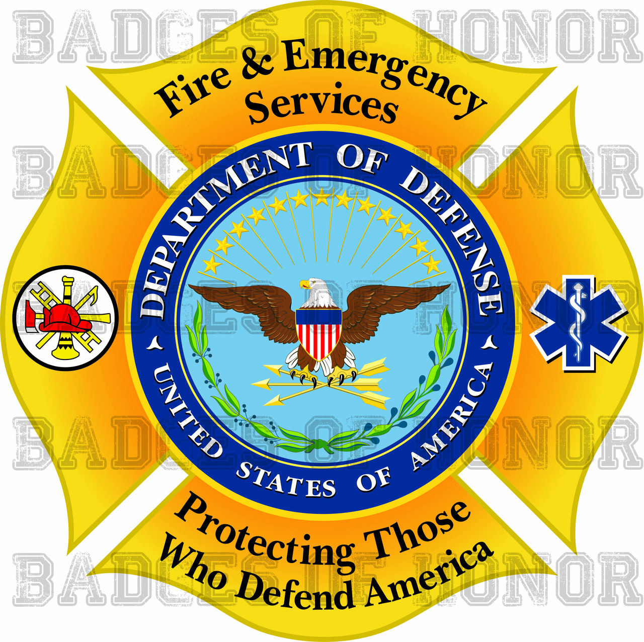 Dod Fire And Emergency Services Decal Badges Of Honor