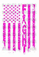 American Flag Cancer Awareness shirt