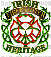 Irish Firefighter Heritage Shirt