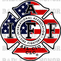 IAFF AMERICAN FLAG DECAL