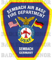 Sembach Air Base Fire Department Shirt v2