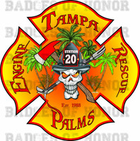 Tampa Fire Rescue Station 20 decal version 2