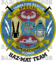 Tampa Fire Rescue Special Operations  Haz-Mat Shirt