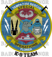 Tampa Fire Rescue Special Operations  K-9 Shirt