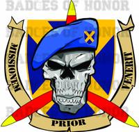 Blue Beret Decal