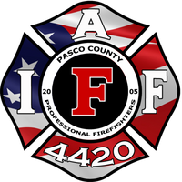 Pasco County Firefighters Local 4420 American Flag Shirt
