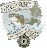 Pasco County Firefighters Local 4420 Bass Fishing  shirt