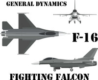 USAF F-16 Shirt v3