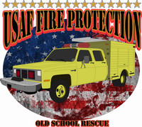 USAF Fire Protection Old School Rescue  Shirt