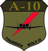 Fairchild Republic A-10 Thunderbolt II Desert Logo OD Green Shirt