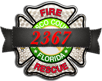 Pasco County Fire Rescue Memorial  Truck Decal