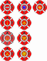 Fire Department Rank Decal