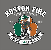 Boston Fire Department Engine 2 Ladder 19 Shirt(Unofficial) v2