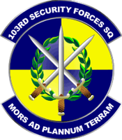 103rd Security Forces Squadron Shirt