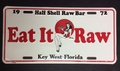 Half Shell Raw Bar License Plate