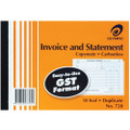 Olympic Invoice/ Statement Book 210x148mm Duplicate Carbonless #728