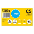 Tudor Envelope C5 Plainface Peel-N-Seal Gold Box 500